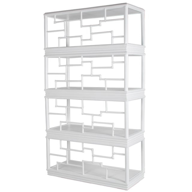 Tibet Etagere - White For Sale - Image 10 of 10