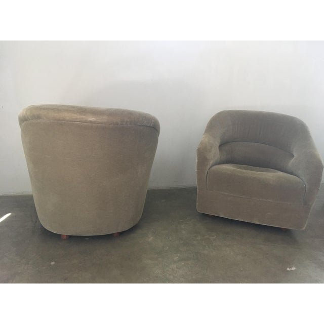 Pair of Ward Bennett Mohair Club Chairs For Sale In Los Angeles - Image 6 of 12