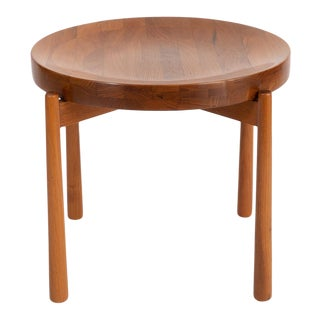 Solid Teak Mid Century Side Table 1960's For Sale
