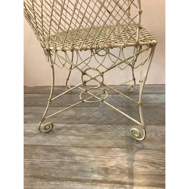 French Painted Wire Tub Back Chairs - a Pair - Image 7 of 10