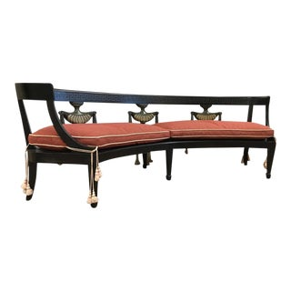 Louis XIV Style Curved Bench For Sale