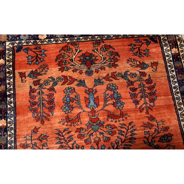 1900s Handmade Antique Persian Sarouk Rug For Sale In New York - Image 6 of 9