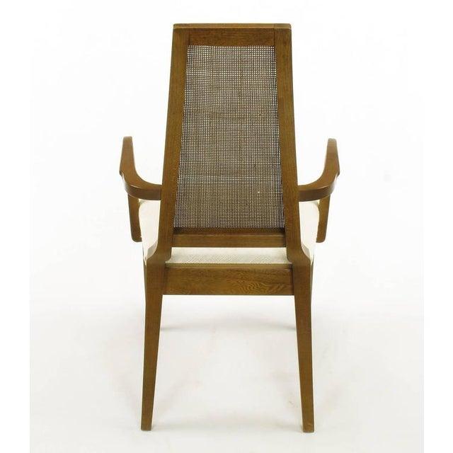 Sleek, circa 1950s Modern Walnut and Cane Dining Chairs - Image 9 of 10