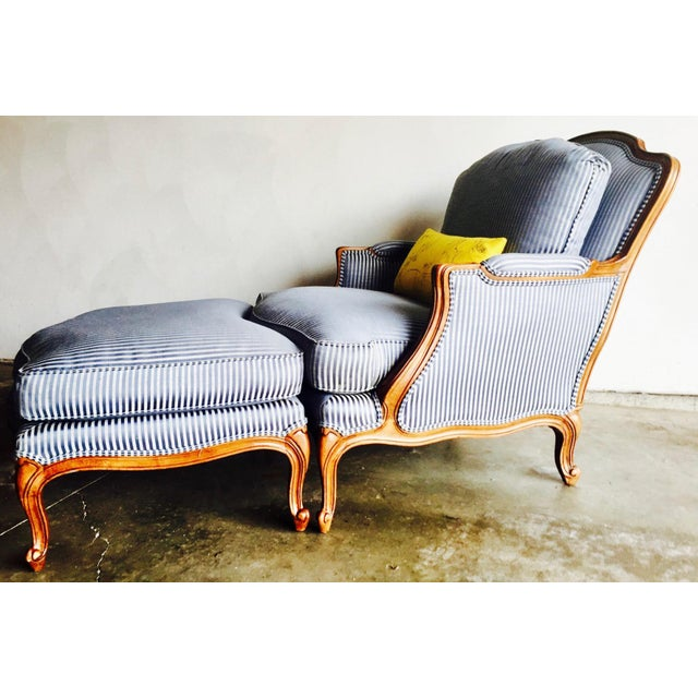 Vintage Heritage Bergere Chair & Ottoman - Image 4 of 10