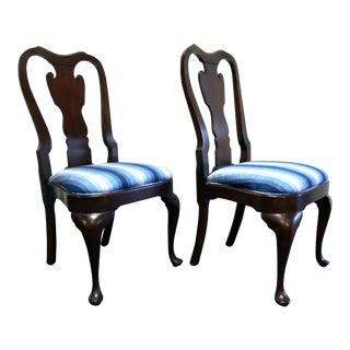 Statton Old Towne Solid Cherry Queen Anne Dining Side Chairs - Pair 2