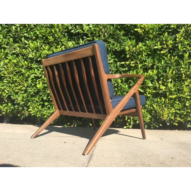 Modern Walnut Z-Lounge Chair For Sale In Los Angeles - Image 6 of 6
