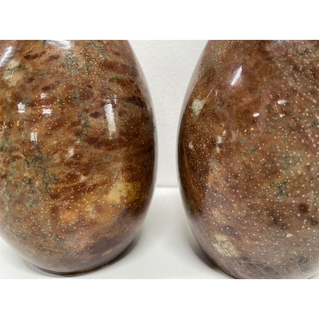 Stone Vintage Italian Marble Egg Bookends - a Pair For Sale - Image 7 of 12