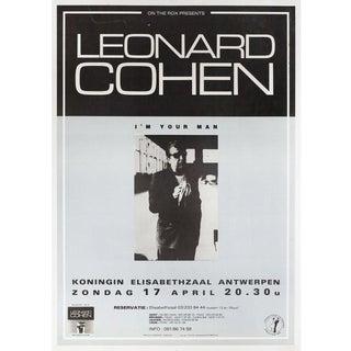 Leonard Cohen: I'm Your Man 1988 Belgian A1 Poster For Sale