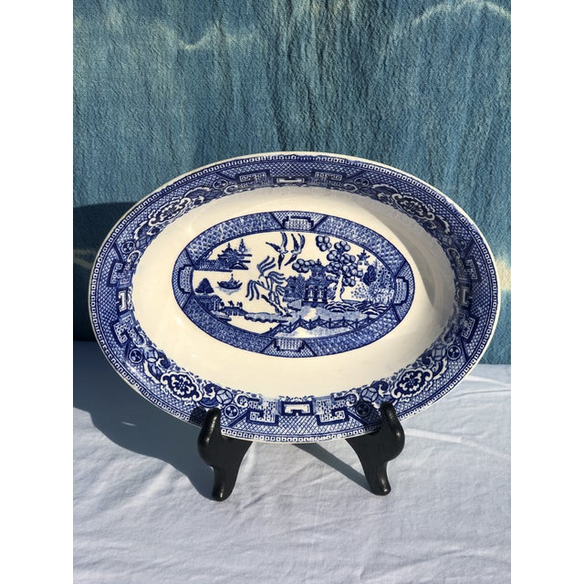 1930s Vintage Blue Willow Ware Serving Bowl 1930's by Homer Laughlin For Sale In Portland, OR - Image 6 of 9
