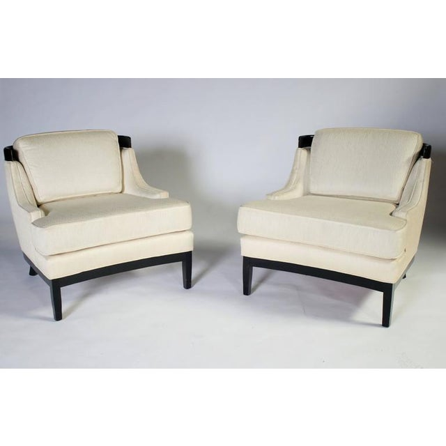 Hollywood Regency Pair of Erwin Lambeth Lounge Chairs for Tomlinson For Sale - Image 3 of 8