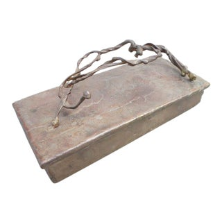Brutalist Bronze Box For Sale