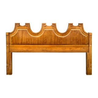 Vintage Regency Greek Key Queen Headboard For Sale