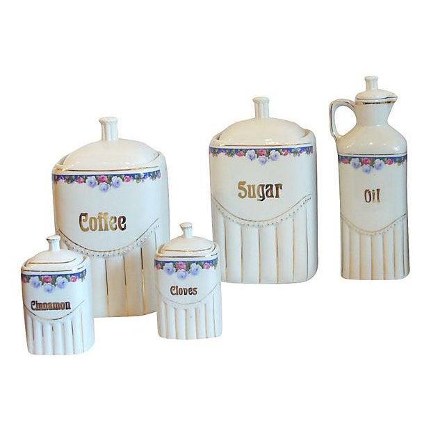 Vintage Porcelain Kitchen Canisters - Set of 12 - Image 6 of 8