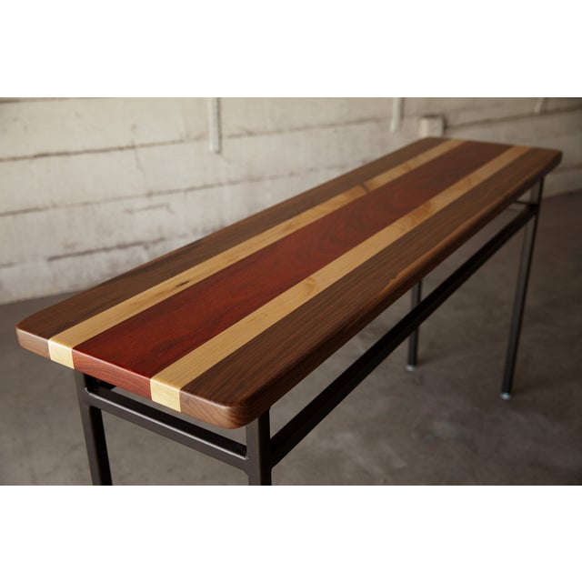 Tri-Wood Console With Steel Base - Image 3 of 5