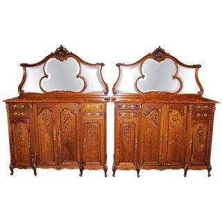 Louis XV Marble Top Servers - A Pair