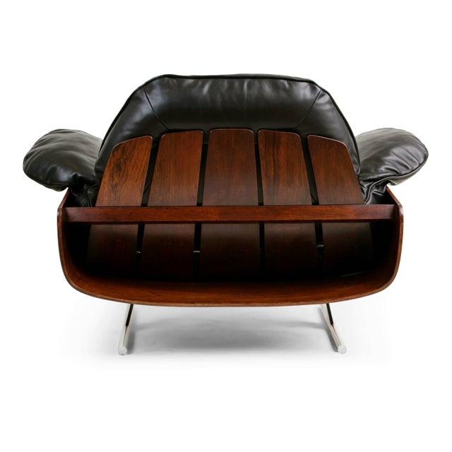 "1960s Vintage Jorge Zalszupin Brazilian ""Presidencial"" Jacaranda Armchair For Sale - Image 9 of 10"