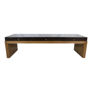 Custom Mahogany Bench w/drawers by Johan Tapp For Sale