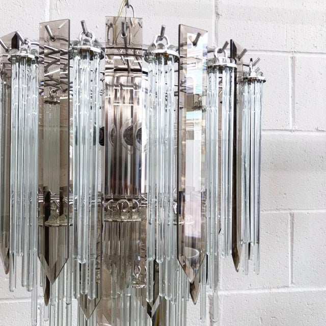 Mid Century Modern Glass Chandelier For Sale - Image 6 of 11