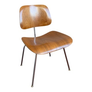 1960s Eames Dcm Bent Plywood and Chrome Chair For Sale