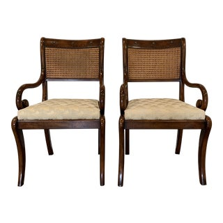 Theodore Alexander Althorp Mahogany Regency Style Armchairs - a Pair For Sale
