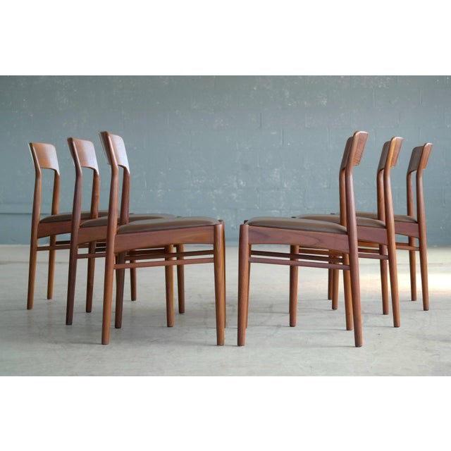 Set of Six Dining Chairs in Teak by Kai Kristiansen for k.s. Mobler Denmark, 1960s For Sale - Image 10 of 10