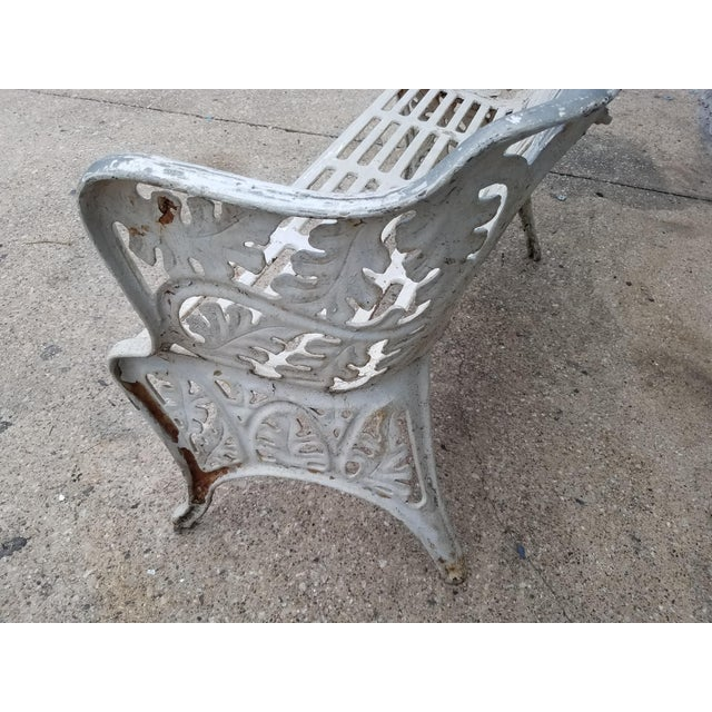 Cast Iron Antique Garden Bench For Sale In Dallas - Image 6 of 9