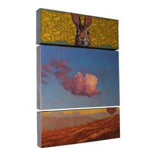 Contemporary Triptych Oil Painting by Deborah DeSaix - 3 Individual Panels For Sale