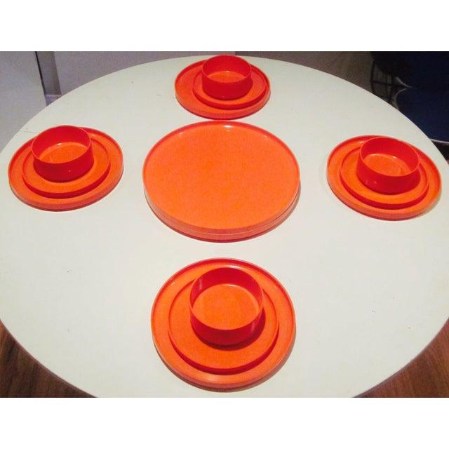 Heller Vignelli Stacking Orange Plate Bowl 30 Pcs - Image 6 of 11