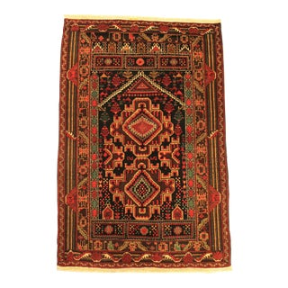 Hand Knotted Vegetable Dyed Baluch Tribal Rug - 2′9″ × 4′1″ For Sale