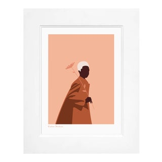 """Flower"" Contemporary Illustration; Framed by Euzhan Shabazz For Sale"