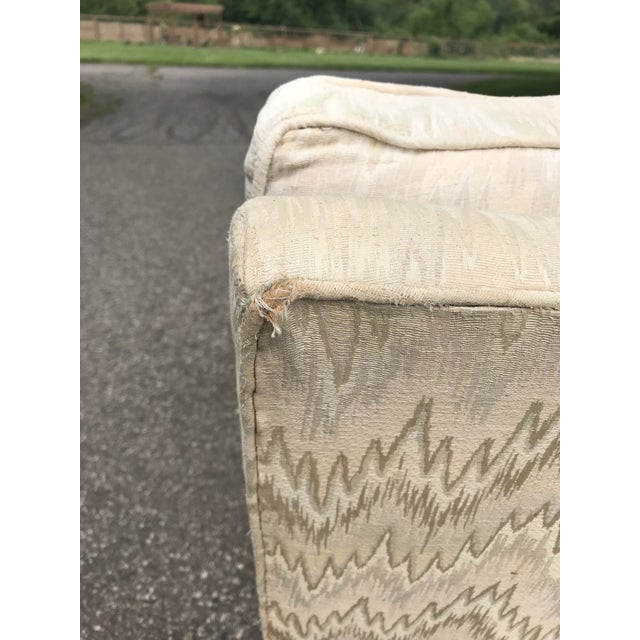 Mid 20th Century Traditional French Provincial Lounge Chair and Ottoman For Sale - Image 5 of 9