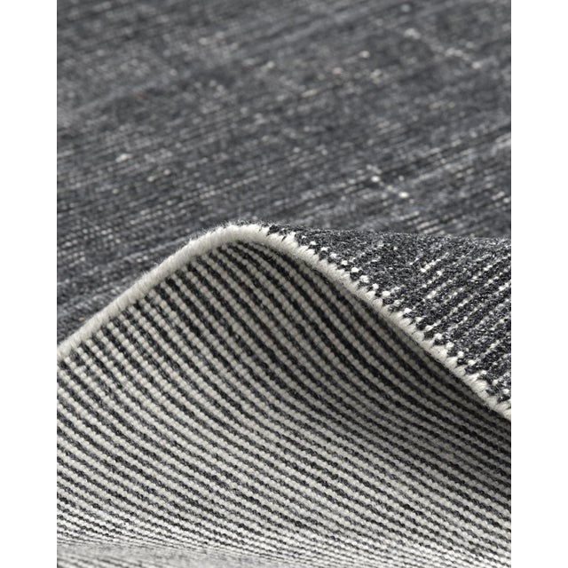Solo Rugs Halsey, Contemporary Solid Hand Loomed Area Rug, Charcoal, 5 X 8 For Sale - Image 4 of 9
