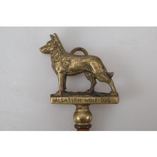 Antique English Brass German Shepherd Dog Bottle Opener Preview
