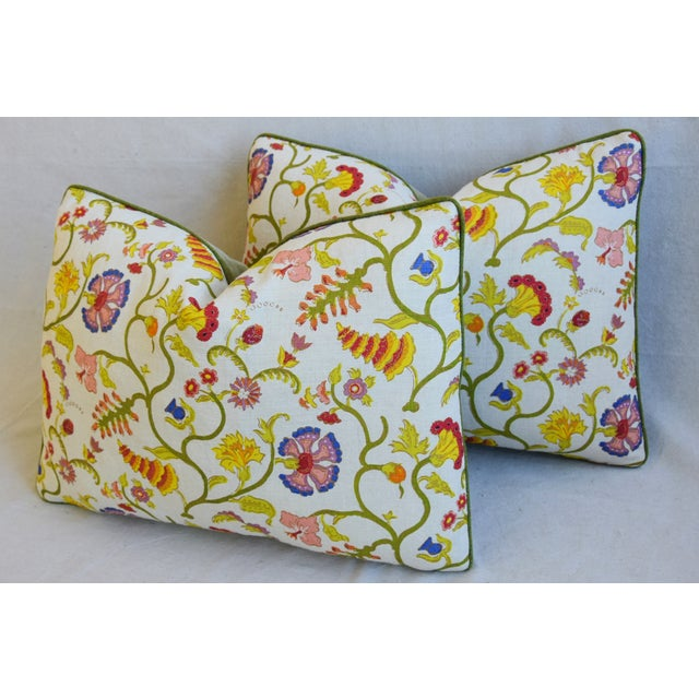 """White Designer Floral Raoul & Scalamadre Mohair Pillows 23"""" X 16"""" - Pair For Sale - Image 8 of 13"""