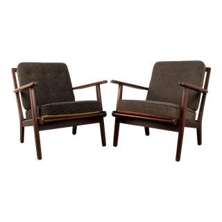 Vintage Mid Century Danish Modern Teak Lounge Chairs- A Pair For Sale