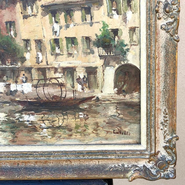 Antique Framed Oil Painting on Canvas For Sale - Image 10 of 12