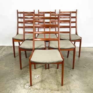 Set of 6 Danish Teak Ladder Back Dining Chairs Designed by Kai Kristiansen Preview