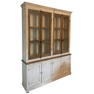 Large French Cabinet or Bookcase For Sale