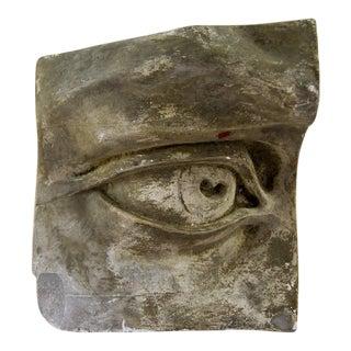 Antique P.P. Caproni Handmade Plaster Eye Wall Decor