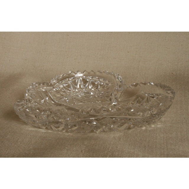 Mid 20th Century Vintage Heart-Shaped Lead Crystal Ashtray/Trinket Tray For Sale - Image 5 of 7