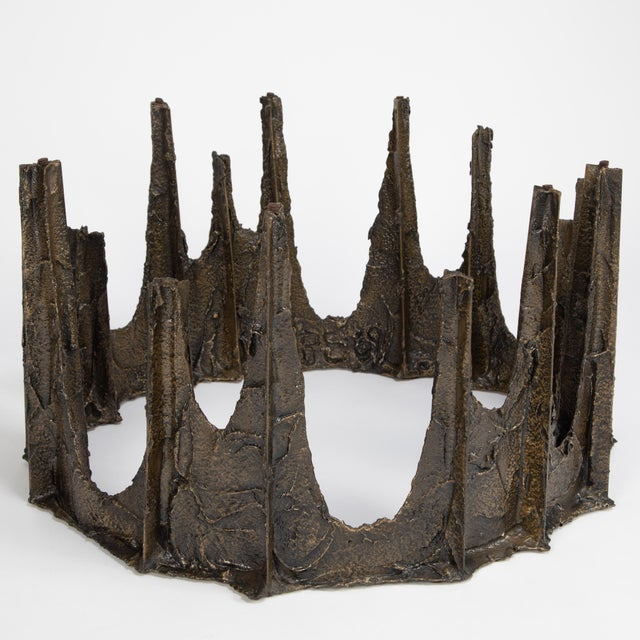 1960s Paul Evans Sculpted Bronze Stalagmite Coffee Table, 1969 For Sale - Image 5 of 13