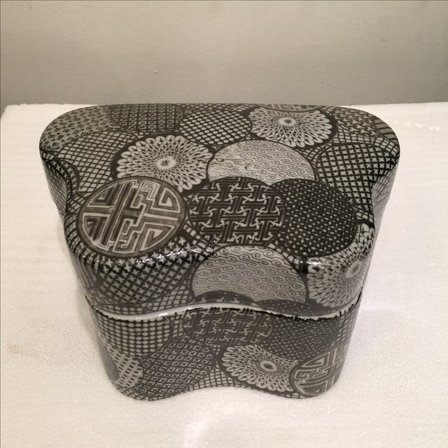 Ceramic Modern Graphic Pattern Box - Image 2 of 5