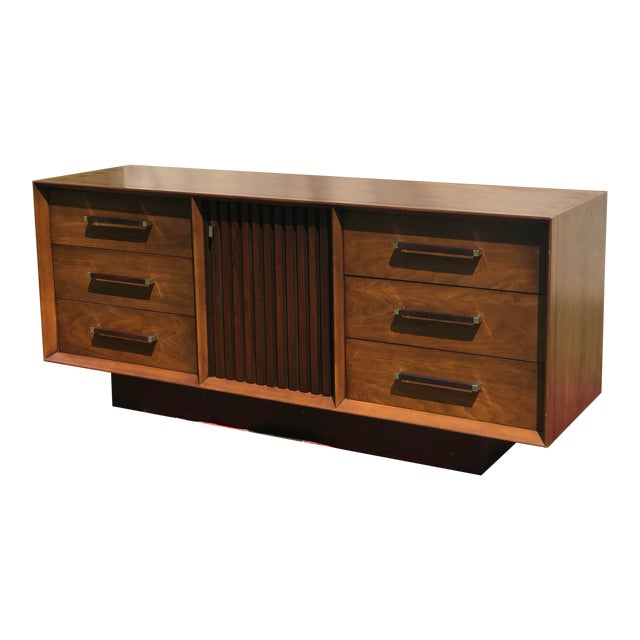 1970s Mid Century Lane 'Tower Collection' Rosewood Credenza For Sale