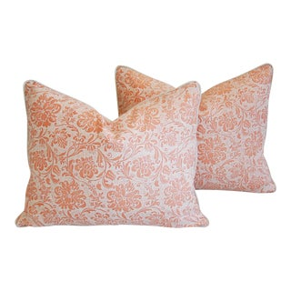"Italian Fortuny Cimarosa Feather/Down Pillows 23"" x 18"" - Pair For Sale"