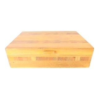 Vintage Rustic Wood Box For Sale