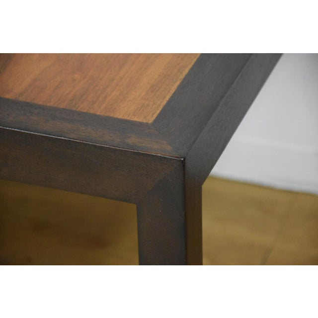 Edward Wormley for Dunbar Mahogany and Walnut Dining Table For Sale In Boston - Image 6 of 11