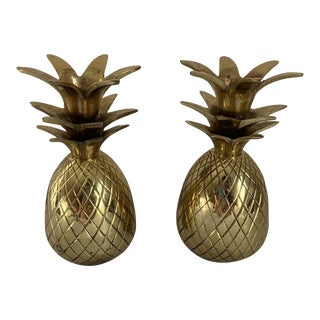 Brass Pineapple Candle Holders For Sale