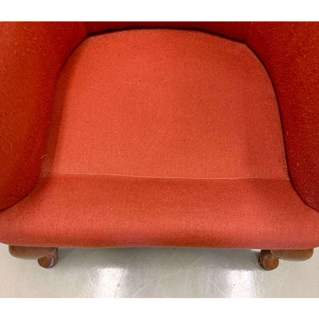 Minton Spidell Papa Bear Upholstered Chair Sculptural Wingback Chair For Sale - Image 10 of 12