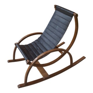 Mid-Century Modern Child Size Sling Rocking Chair For Sale
