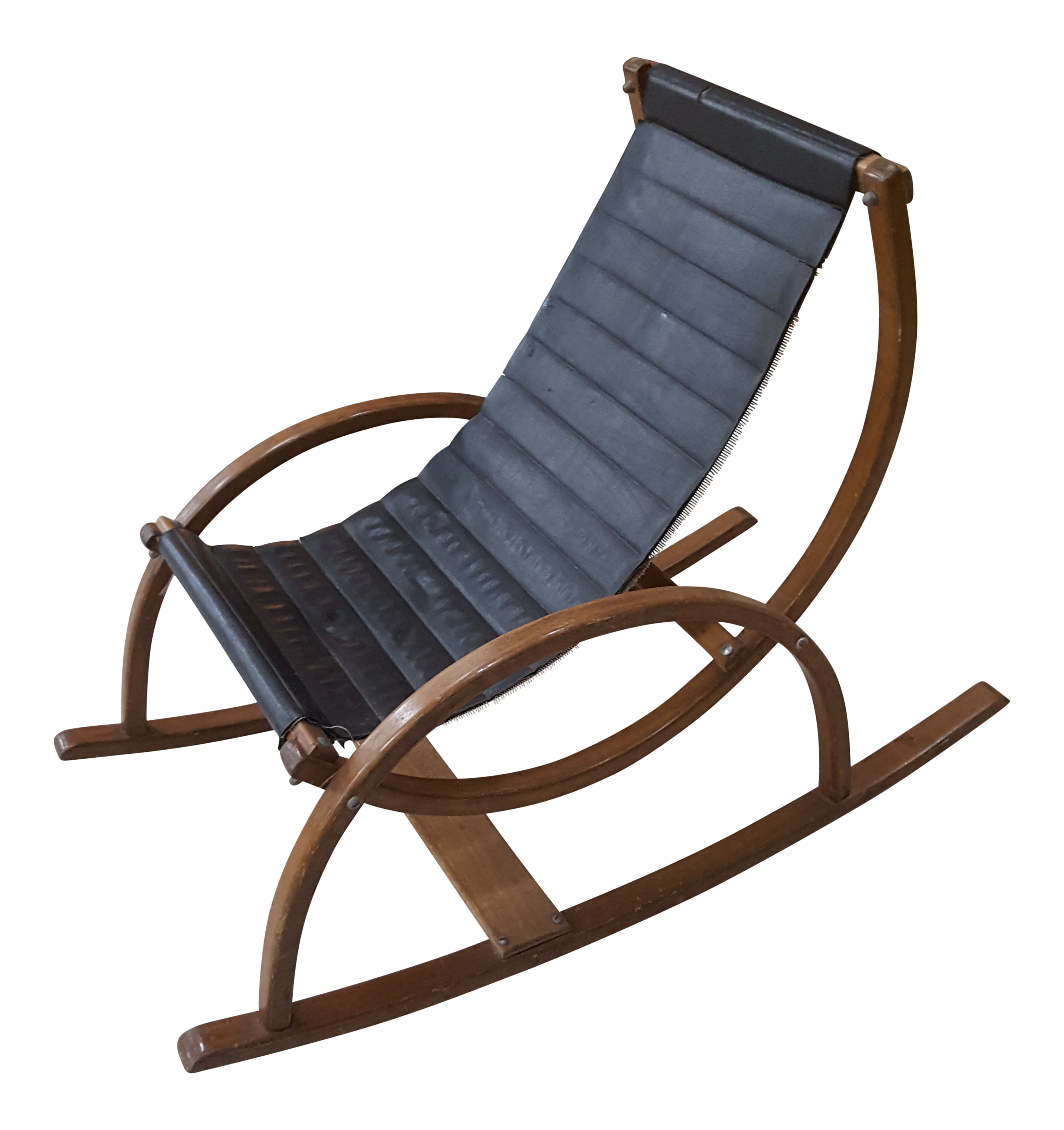 Charmant Mid Century Modern Child Size Sling Rocking Chair